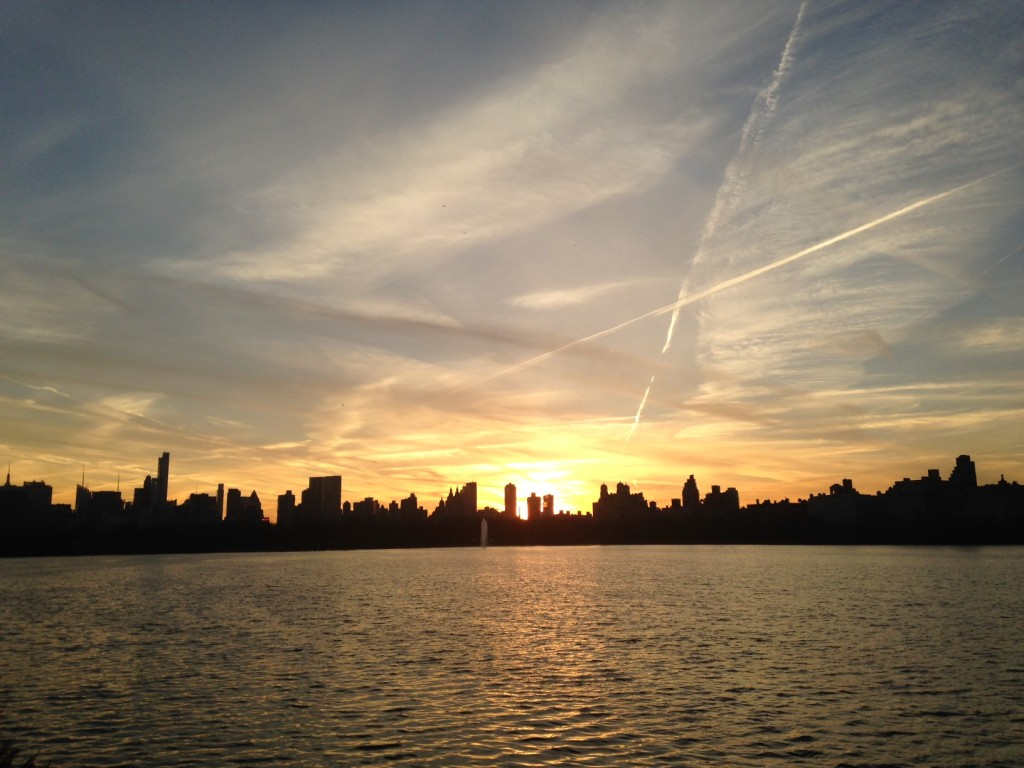 Sunset over Central Park Reservoir